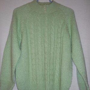 Size PM Karen Scott Petites Green Sweater